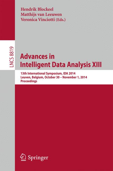 Cover of 'Advances in Intelligent Data Analysis XIII'