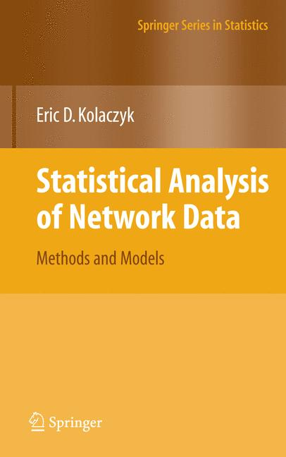 Cover of 'Statistical Analysis of Network Data'