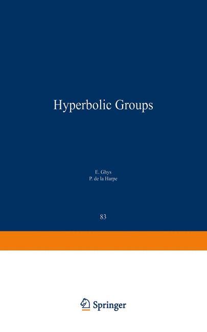 Cover of 'Sur les Groupes Hyperboliques d'après Mikhael Gromov'