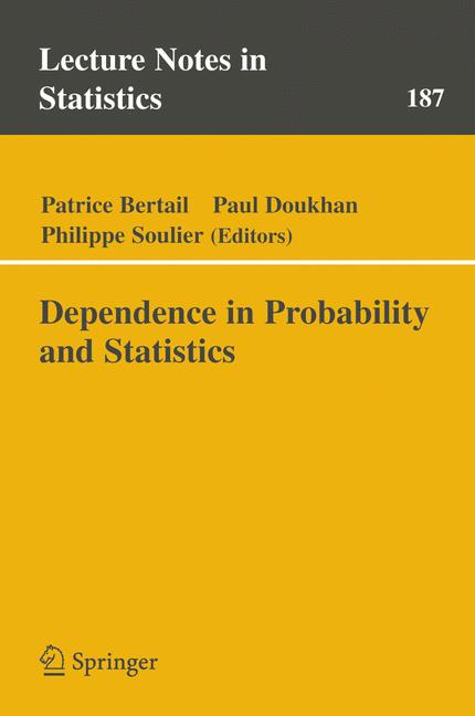 Cover of 'Dependence in Probability and Statistics'