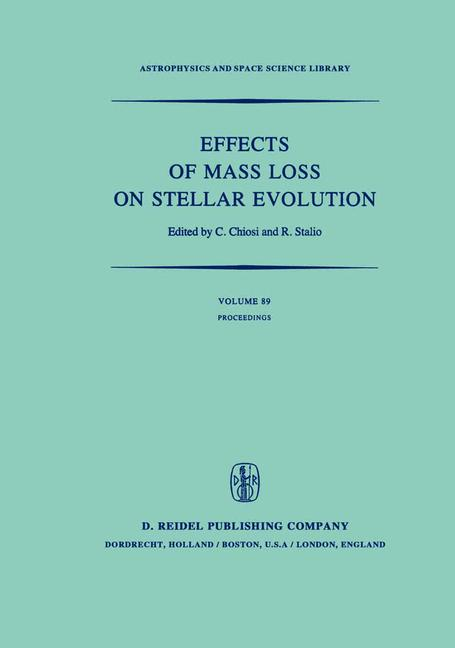 Cover of 'Effects of Mass Loss on Stellar Evolution'