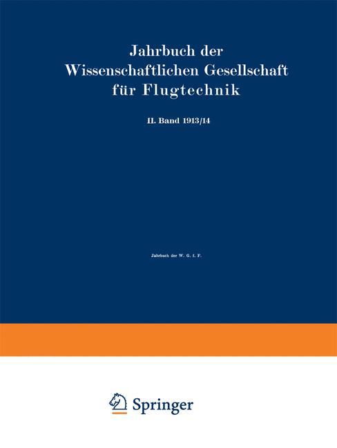 Cover of 'Jahrbuch der Wissenschaftlichen Gesellschaft für Flugtechnik'