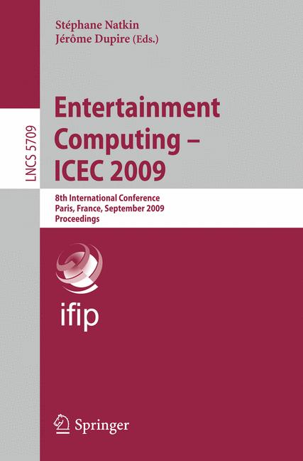 Cover of 'Entertainment Computing – ICEC 2009'