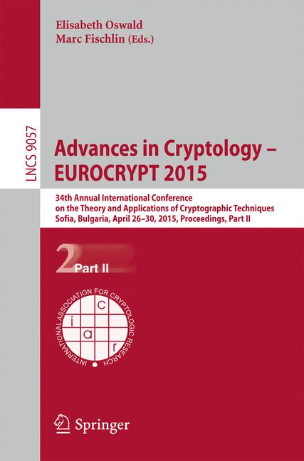 Cover of 'Advances in Cryptology - EUROCRYPT 2015'