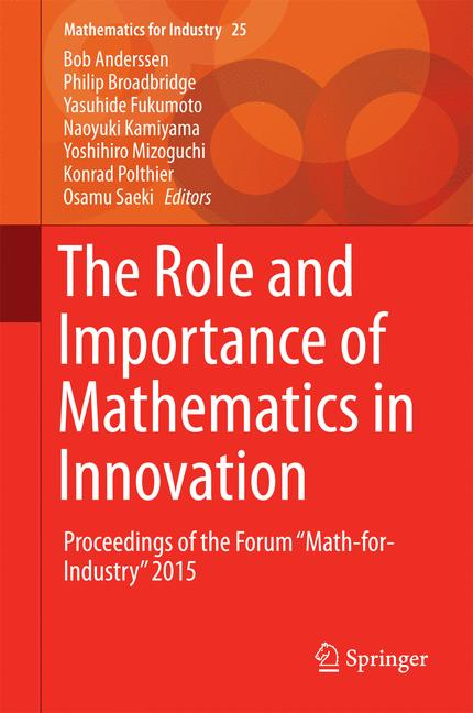 Cover of 'The Role and Importance of Mathematics in Innovation'