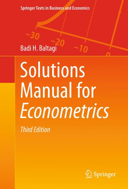 Cover of 'Solutions Manual for Econometrics'