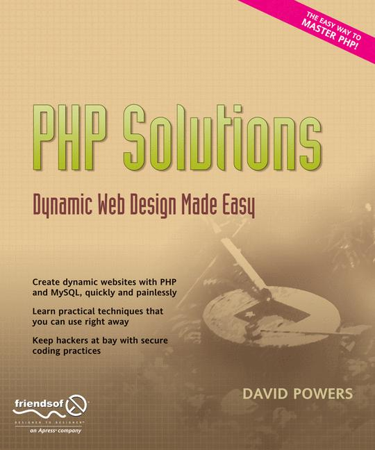 Cover of 'PHP solutions : dynamic web design made easy'