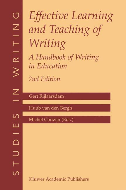 Cover of 'Effective Learning and Teaching of Writing'