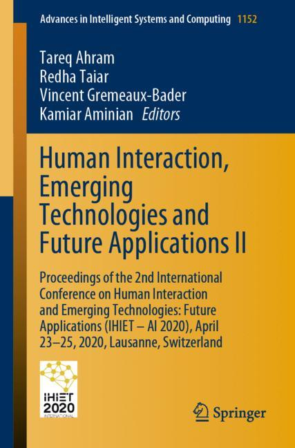 Cover of 'Human Interaction, Emerging Technologies and Future Applications II'