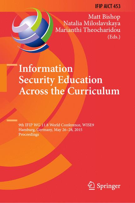 Cover of 'Information Security Education Across the Curriculum'