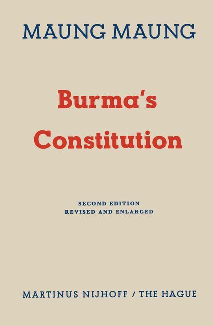 Cover of 'Burma's Constitution'