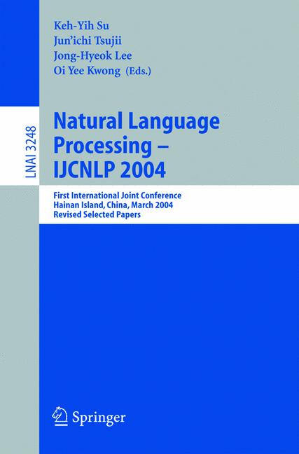 Cover of 'Natural Language Processing – IJCNLP 2004'