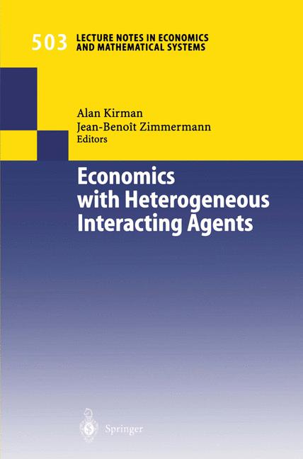 Cover of 'Economics with Heterogeneous Interacting Agents'