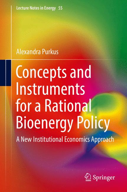 Cover of 'Concepts and Instruments for a Rational Bioenergy Policy'