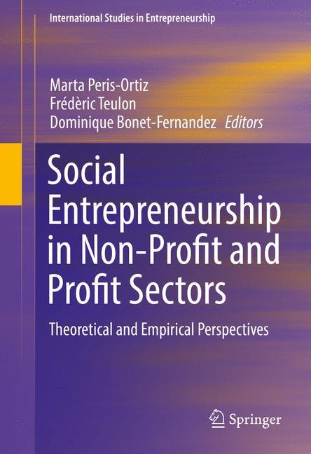 Cover of 'Social Entrepreneurship in Non-Profit and Profit Sectors'