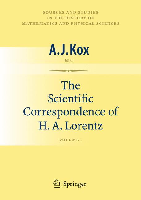 Cover of 'The Scientific Correspondence of H. A. Lorentz'