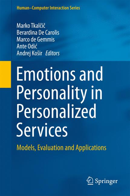 Cover of 'Emotions and Personality in Personalized Services'