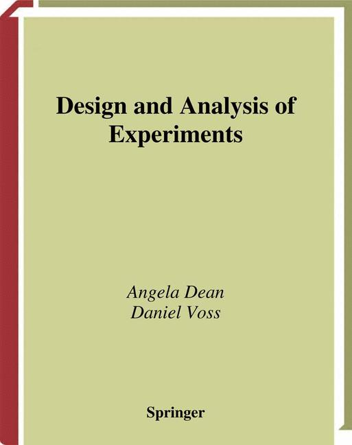 Cover of 'Design and analysis of experiments'