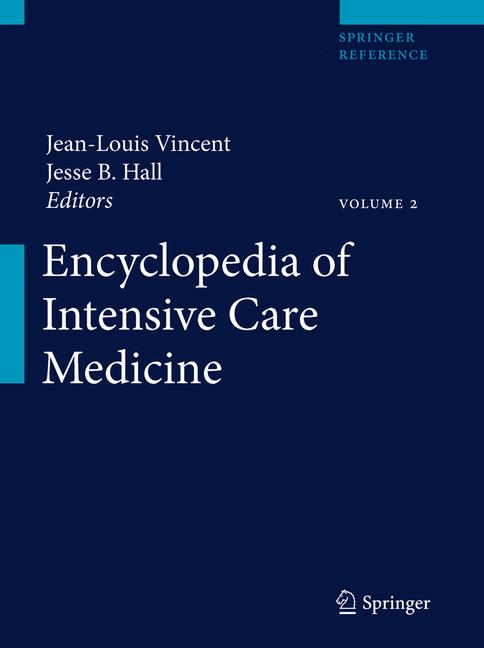Cover of 'Encyclopedia of Intensive Care Medicine'