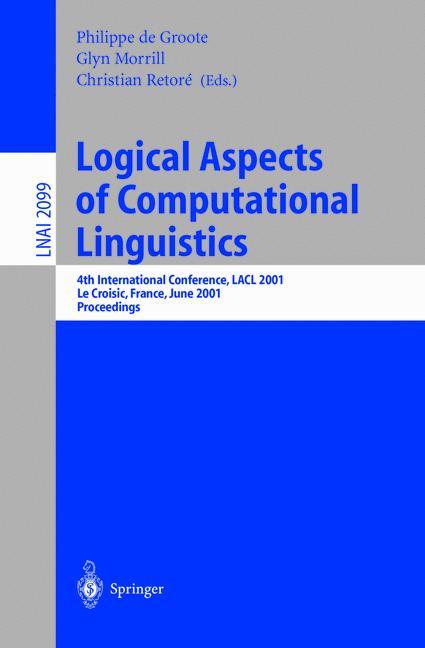 Cover of 'Logical Aspects of Computational Linguistics'