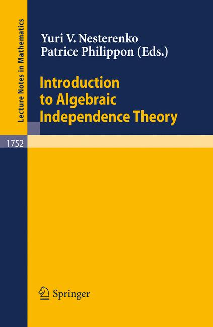 Cover of 'Introduction to Algebraic Independence Theory'