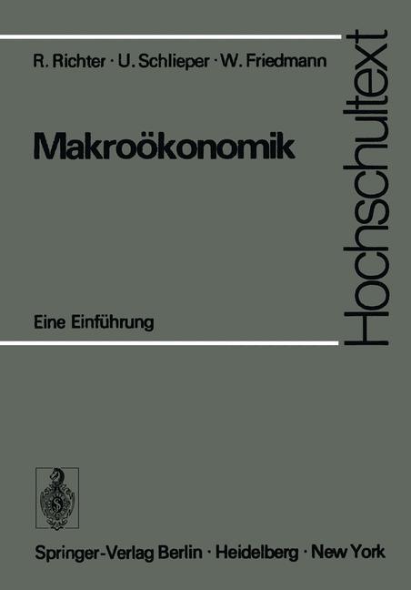 Cover of 'Makroökonomik; eine Einführung'