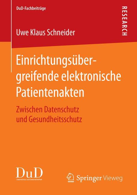 Cover of 'Einrichtungsübergreifende elektronische Patientenakten'