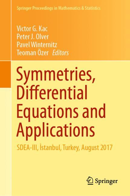 Cover of 'Symmetries, Differential Equations and Applications'