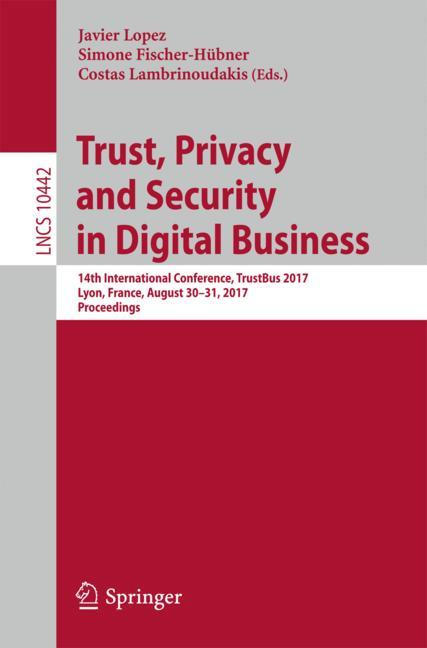 Cover of 'Trust, Privacy and Security in Digital Business'