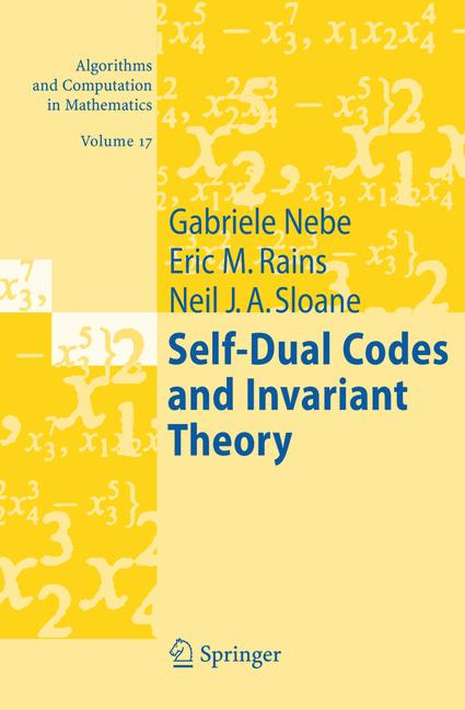 Cover of 'Self-dual codes and invariant theory'