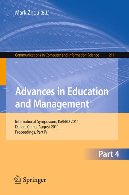 Cover of 'Advances in Education and Management'