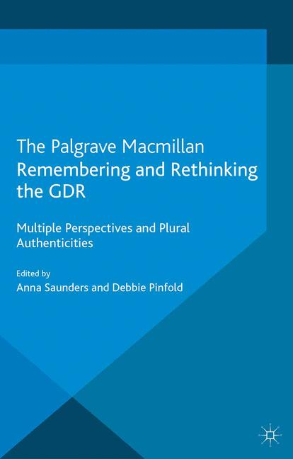 Cover of 'Remembering and Rethinking the GDR'