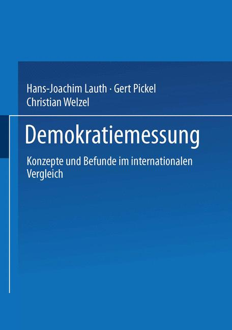 Cover of 'Demokratiemessung'