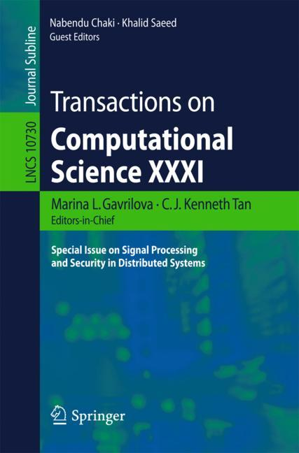 Cover of 'Transactions on Computational Science XXXI'