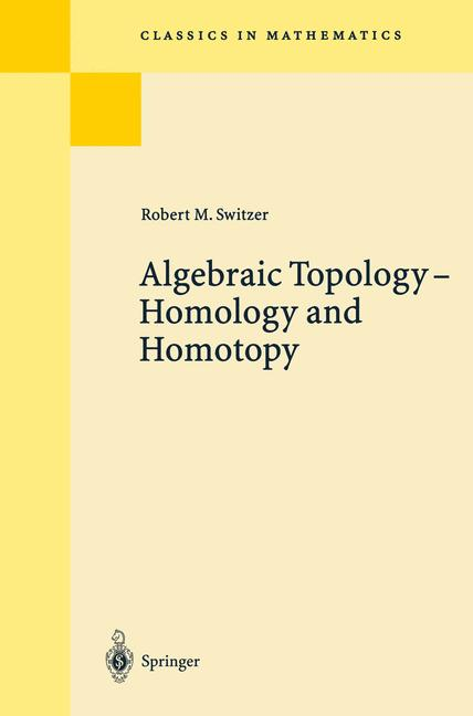 Cover of 'Algebraic Topology — Homotopy and Homology'
