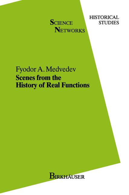 Cover of 'Scenes from the History of Real Functions'