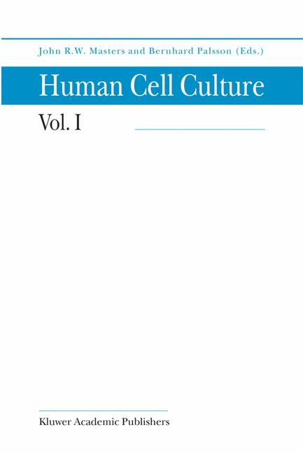 Cover of 'Human Cell Culture'