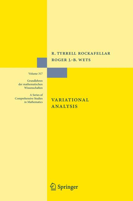 Cover of 'Variational Analysis'