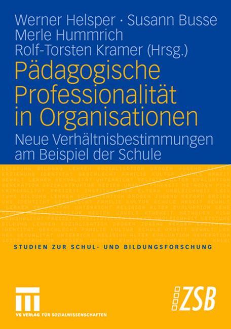 Cover of 'Pädagogische Professionalität in Organisationen'