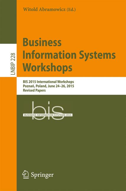 Cover of 'Business Information Systems Workshops'