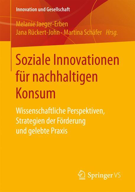 Cover of 'Soziale Innovationen für nachhaltigen Konsum'