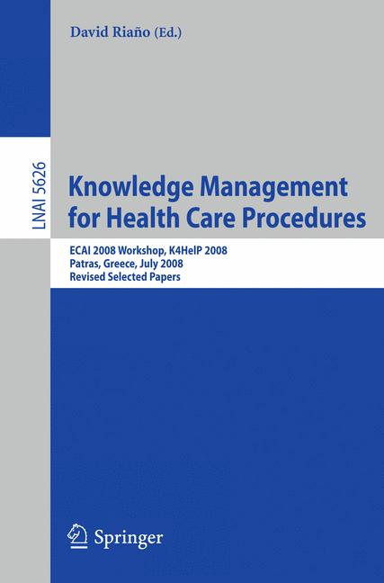 Cover of 'Knowledge Management for Health Care Procedures'