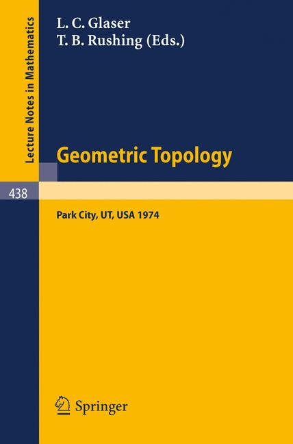 Cover of 'Geometric Topology'