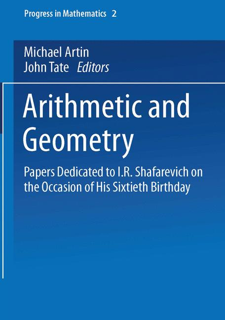 Cover of 'Arithmetic and Geometry'