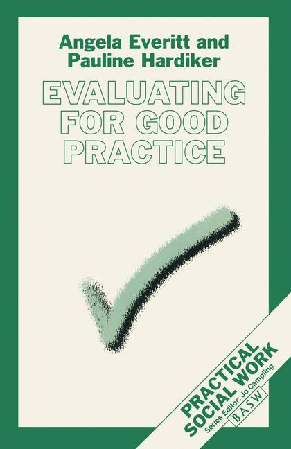 Cover of 'Evaluating for good practice'