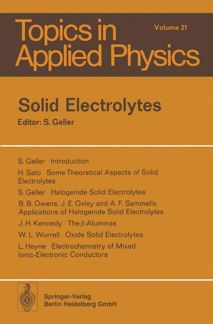 Cover of 'Solid Electrolytes'
