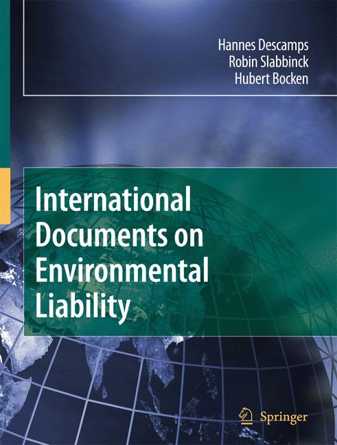Cover of 'International Documents on Environmental Liability'