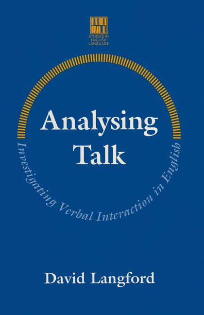 Cover of 'Analysing talk : investigating verbal interaction in English'
