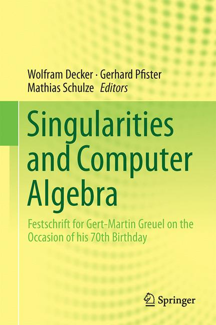 Cover of 'Singularities and Computer Algebra'