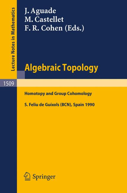 Cover of 'Algebraic Topology Homotopy and Group Cohomology'